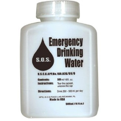 Emergency Water 16 oz bottle