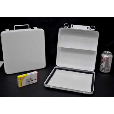 Empty 24 Unit Size Metal First Aid Box
