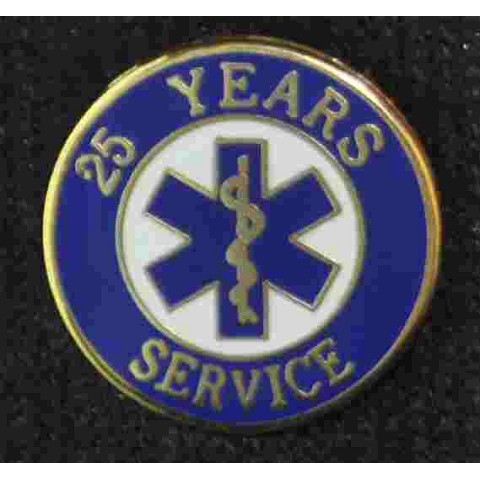 25 Year EMS Service Pin