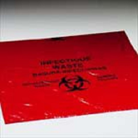 Ten Gallon Biohazard Infectious Waste Bags - roll of 100