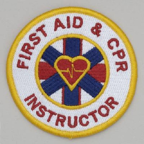 First Aid and CPR Instructor - Embroidered Patch