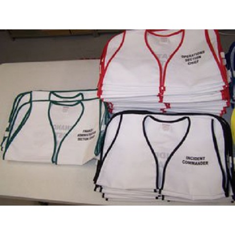 HICS Set - Cloth 25 Top Level Vests for Hospital Incident Command System