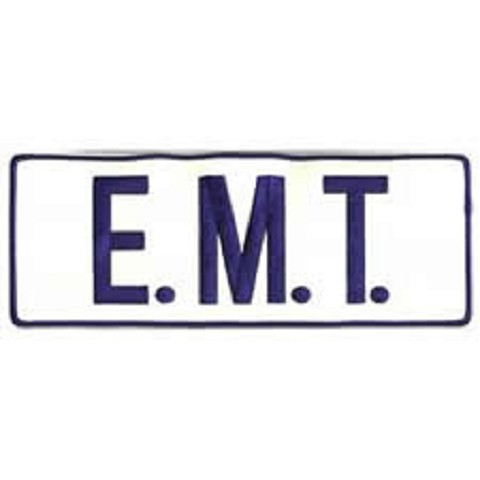 EMT Reflective Back Patch Blue/White