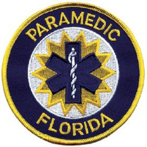 Florida Paramedic Patch Gold Edge