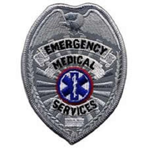 EMS Reflective Badge Patch Silver