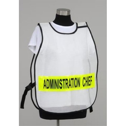 Model #PON3 Poncho Style Incident Command System Titled ICS  Vest