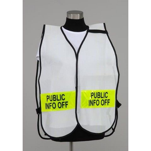 Split Front Style Incident Command Vest with Front/Back Titles