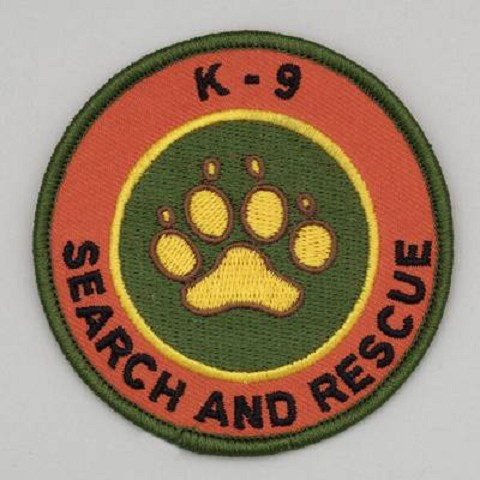 Embroidered Patch - K-9 Search and Rescue Patch