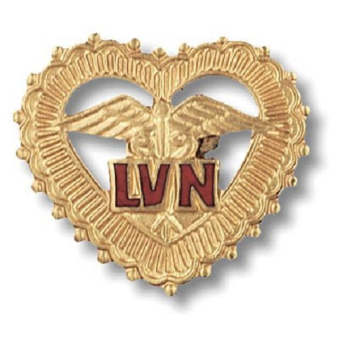 LVN -in filigreed heart Licenced Vocational Nurse
