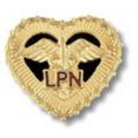 LPN -in filigreed heart - Lic. Practical Nurse