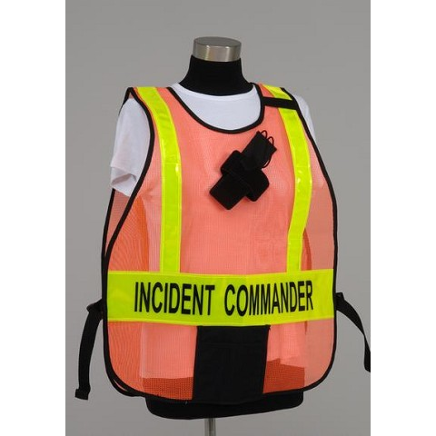 Model PON5 Poncho Style Incident Command System Vest with Reflective Striping