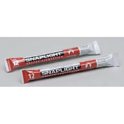 12-Hour Chemical Lightsticks-2-pack Red