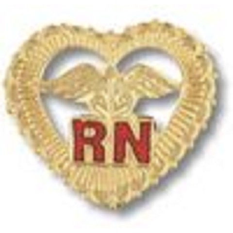 RN -inside Filigreed Heart- Emblem Pin