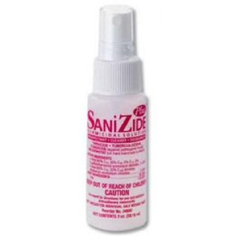 SaniZide Plus TM 2 fl oz spray bottle