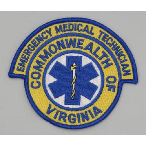 Virginia Emergency Medical Technician EMT - Embroidered Patch