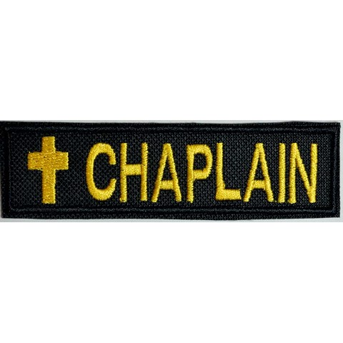 Chaplain 1x4 Inch patch with cross