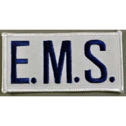 EMS Chest Emblem Royal Blue/White