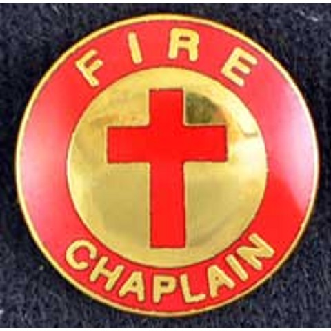 Fire Chaplain Pin with Cross