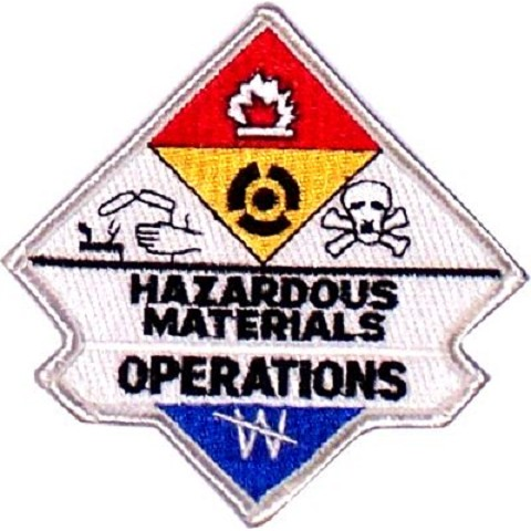 Hazmat Operations Embroidered Patch