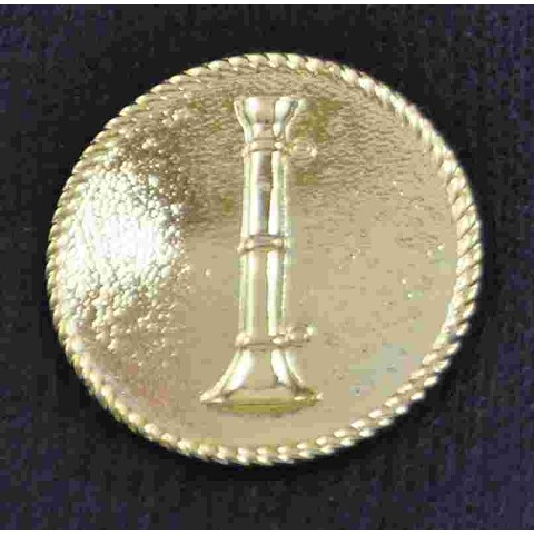 Single Bugle Round Pin Sold in pairs