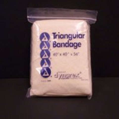 Triangular bandage with 2 safety pins 40inx40inx56in CASE 12/bag 20bags/case