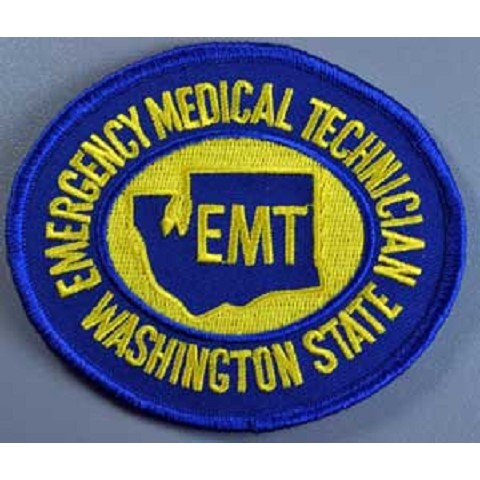 Washington State EMT Patch Gold